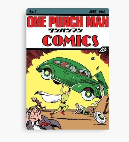 One Punch Man Action Comics Canvas Print