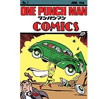 One Punch Man Action Comics Photographic Print