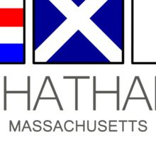 Chatham Massachusetts Nautical Flag Art Wall Decor Beach Ocean Sticker