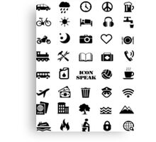 Iconspeak - Travel Icon for World Travellers 1 Canvas Print