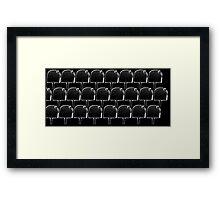 popcicle black Framed Print
