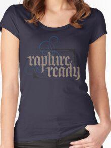 Rapture Ready - Elegant Modern Religious Christian Calligraphy - hand lettering - for black Women's Fitted Scoop T-Shirt
