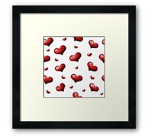 Valentine's Day Seamless Pattern with Hearts.  Framed Print