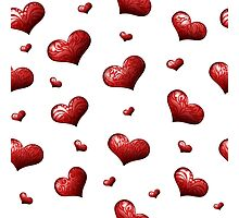 Valentine's Day Seamless Pattern with Hearts.  Photographic Print