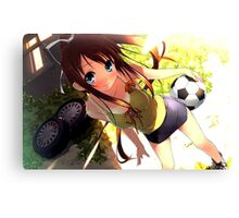 Football Girl Canvas Print