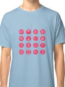 Internet Banking Icons Set in flat style Classic T-Shirt