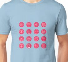 Internet Banking Icons Set in flat style Unisex T-Shirt