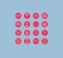 Internet Banking Icons Set in flat style T-Shirt