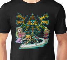 Legend of Zelda Wind Waker Toon Triforce Heroes Unisex T-Shirt