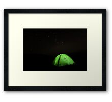 Glowing Tent Framed Print