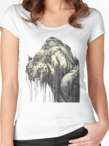 Tiger - Melting Tiger Women's Fitted Scoop T-Shirt