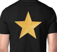 STAR, Gold Star, Golden Star, Award, Achievement, Excellent, Excellence, BLACK Unisex T-Shirt