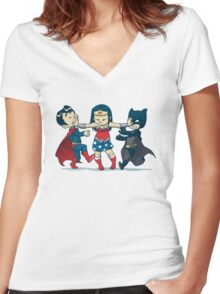 Super Childish Women's Fitted V-Neck T-Shirt