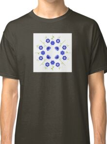Blue flowers ( inspired by Slovakia ) Classic T-Shirt