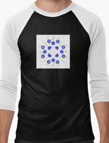 Blue flowers ( inspired by Slovakia ) Men's Baseball ¾ T-Shirt
