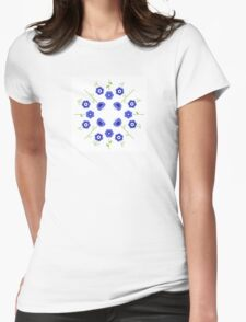 Blue flowers ( inspired by Slovakia ) Womens Fitted T-Shirt