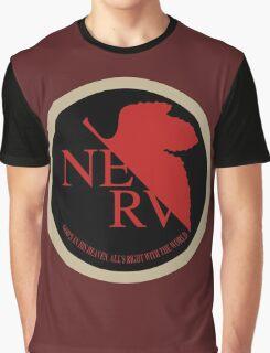 NERV NGE Neon Genesis Evangelion Sticker Graphic T-Shirt