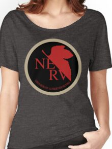 NERV NGE Neon Genesis Evangelion Sticker Women's Relaxed Fit T-Shirt