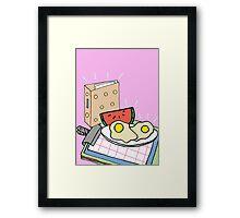 Office Breakfast Framed Print