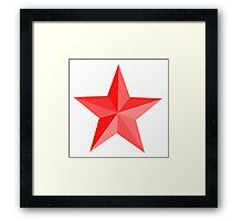 RED STAR, Red Star sectioned Framed Print