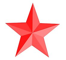 RED STAR, Red Star sectioned Photographic Print