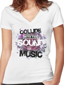 Collide with the Sound of Music Women's Fitted V-Neck T-Shirt