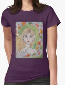 By water, wood and willow Womens Fitted T-Shirt