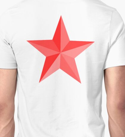RED STAR, Red Star sectioned Unisex T-Shirt