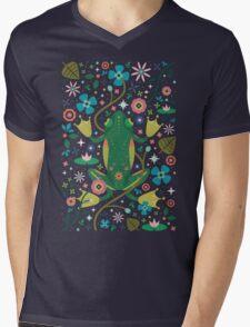Botanical Frog  Mens V-Neck T-Shirt