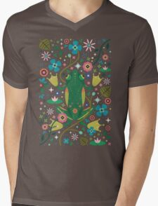 Botanical Frog  Mens V-Neck T-Shirt