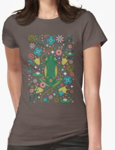 Botanical Frog  Womens Fitted T-Shirt