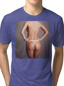 sexy nude erotic glamour girl model 28 Tri-blend T-Shirt