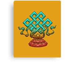 Tibetan Endless Knot, Lotus Flower, Buddhism Canvas Print