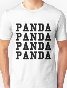 Panda Panda Desiigner - Black Text T-Shirt