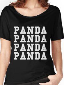 Panda Panda Desiigner - White Text Women's Relaxed Fit T-Shirt