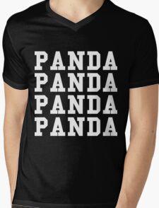 Panda Panda Desiigner - White Text Mens V-Neck T-Shirt