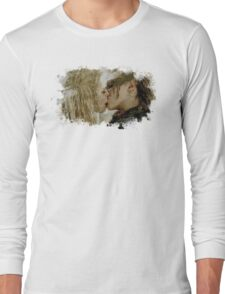 Clexa Kiss - The 100 - draw Long Sleeve T-Shirt