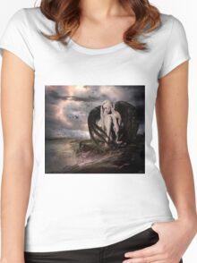 Dark Skies Women's Fitted Scoop T-Shirt