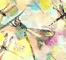 In Yellow - Dragonflies by Betsy  Seeton