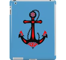 Anchor & Sacred Rose, Symbol Hope, Faith & Love iPad Case/Skin