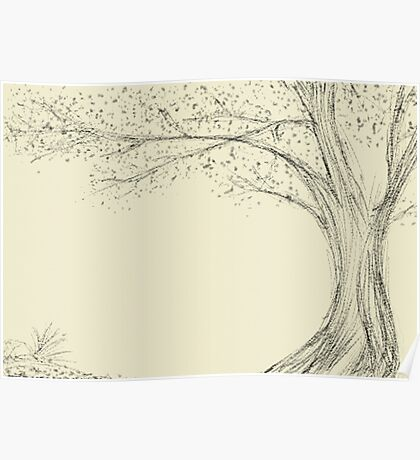 japanese style tree Poster