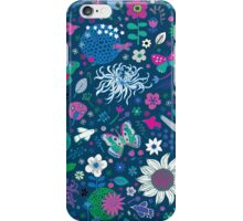 Japanese Garden - Blue, pink and white iPhone Case/Skin