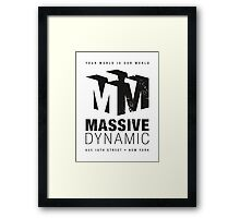 Massive Dynamic (aged look) Framed Print