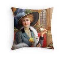 Tea and Letters Throw Pillow