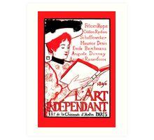 1896 Art Independant literary cover French language advert Art Print