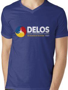 Delos – Adult Amusement Parks (aged look) Mens V-Neck T-Shirt