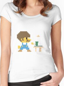 Super BobRossario Bros. Women's Fitted Scoop T-Shirt