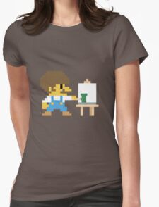 Super BobRossario Bros. Womens Fitted T-Shirt