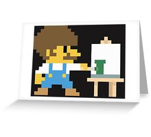 Super BobRossario Bros. Greeting Card