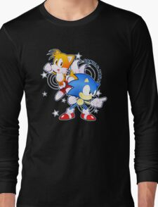 Classic Sonic and Tails 25th Anniversary Style Long Sleeve T-Shirt